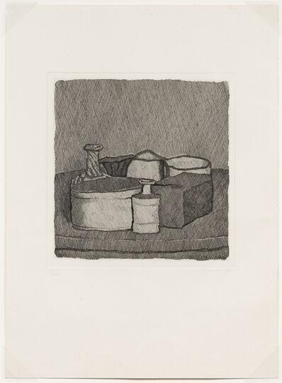 Giorgio Morandi, 'Natura morta con quattro oggetti e tre bottiglie, 1956 (Vitali 117)', 1956
