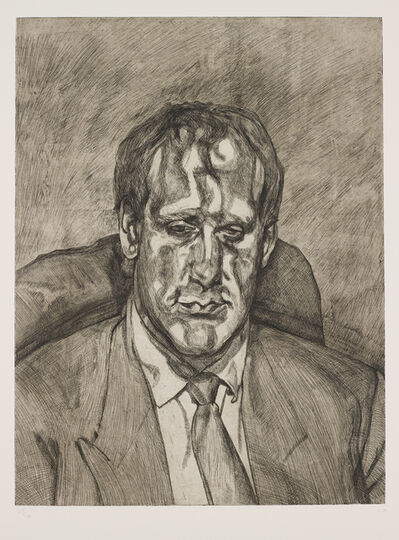 Lucian Freud, 'Head of an Irishman', 1992