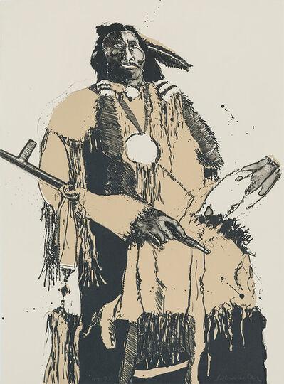 Fritz Scholder, 'Buckskin Indian (Second State)', 1974