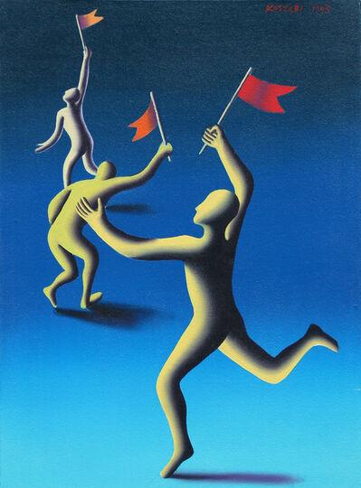 Mark Kostabi, 'Trifecta', 1995
