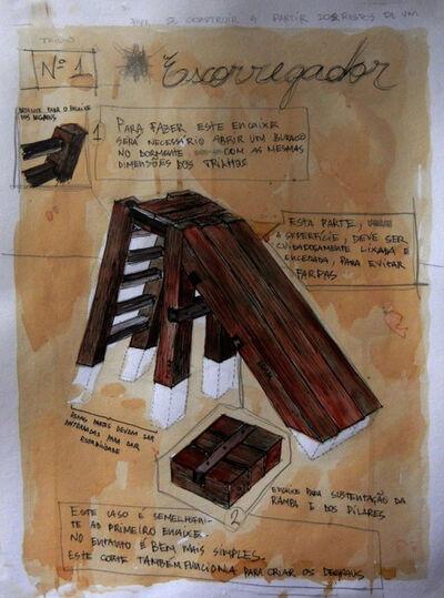 Daniel Murgel, 'Brinquedos para se construir a partir dos restos de um trilho #1 escorregador [Toy to be set up from the remains of a railway sleeper #1 Slide]', 2013