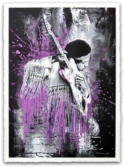 Mr. Brainwash, 'JIMI HENDRIX (PURPLE)', 2015