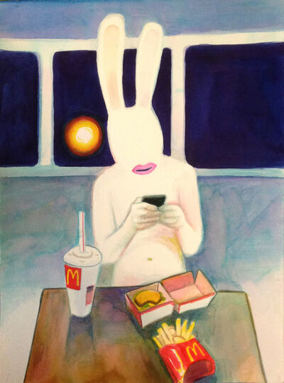 Jack Bride, 'Rabbit With Phone', 2015