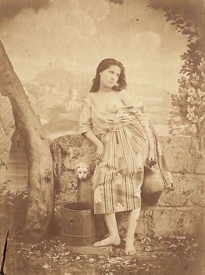 Félix-Jacques Moulin, 'Semi-nude Woman at a Water Fountain', 1855c/1855c