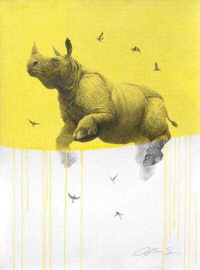 Oliver Flores, 'Jouney No. 5 Yellow Rhino', 2016