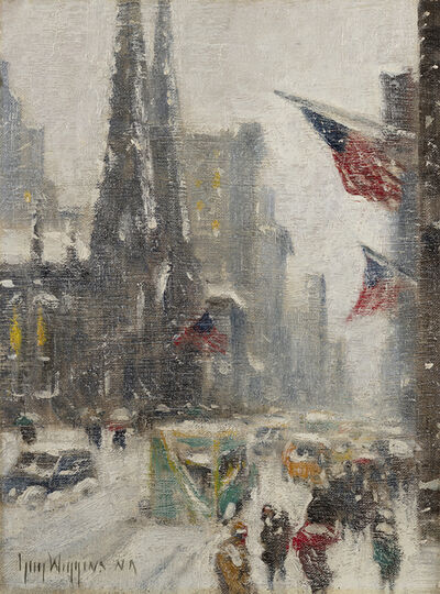 Guy Carleton Wiggins, 'Fifth Avenue in the Snow', Date Unknown