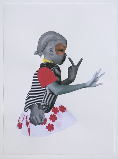 Deborah Roberts, 'Girl In Charge', 2018