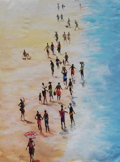 Godwin Adjei Sowah, 'Tuesdays at the Beach without fishingboat', 2019