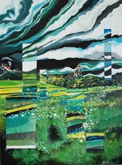 Frédéric BALMEFREZOL, 'Miroirs Vert tiges', 2019