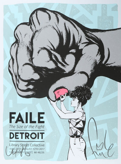 FAILE, 'Size Of The Fight Show Print', 2017