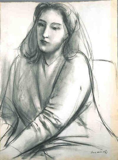 Giacomo Manzù, 'Portrait of Contessa Francesca Blanc', ca. 1953