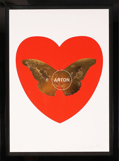 Damien Hirst, 'I Love You, Butterfly, Red & Gold', 2015