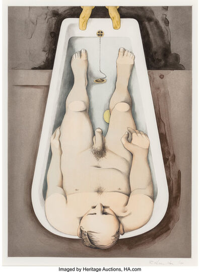 Richard Hamilton, 'He forsaw his pale body', 1990