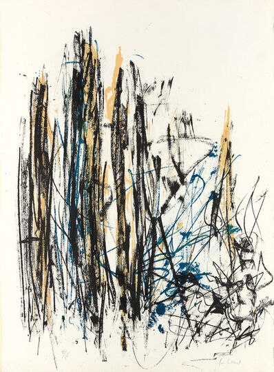 Joan Mitchell, 'Arbres (Black, Yellow and Blue)', 1990