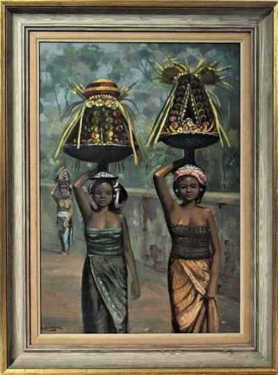 "ga kadir, '""untitled, Two Women"" ', ca. 1950"