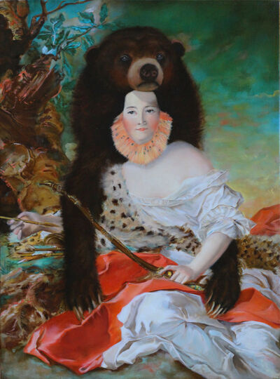 Andrea Hornick, 'Madam Bonier de la Moson Luxuriates in the Protective Embodiment of Sun Bear; His Hibernation-Harnessed Fortitude Lends Her a Lack of Poise Needed to Play Diana the Huntress', 2015