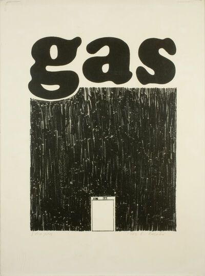 Ed Ruscha, 'Gas', 1962