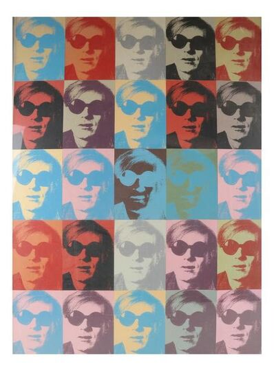 "Andy Warhol, 'Twenty-Five Small Silkscreens,  ca. 1970's, Ex. Jacob Baal-Teshuva Collection (art critic), Card Stock,  3"" x 5""in. (each), Assembled  in Collage Form.', ca. 1970"
