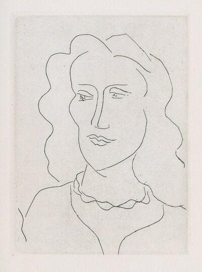 Henri Matisse, 'Jeune femme, visage de trois-quarts', 1946