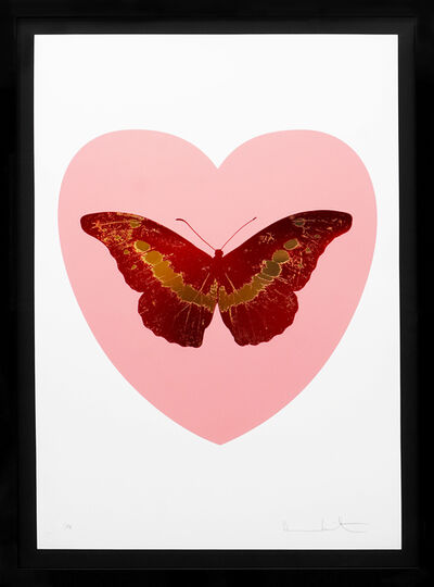 Damien Hirst, ''I Love You' Butterfly, Pink/Red', 2015