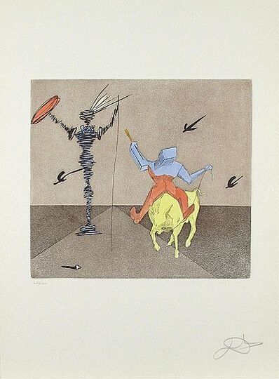 Salvador Dalí, 'Master and Squire Etching on Paper Contemporary Art', 1981