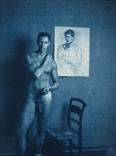 John Dugdale, 'Mark Beard with portrait of J.D.', 1996