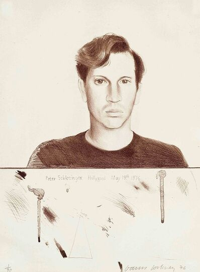 David Hockney, 'Peter Schlesinger (signed)', 1976