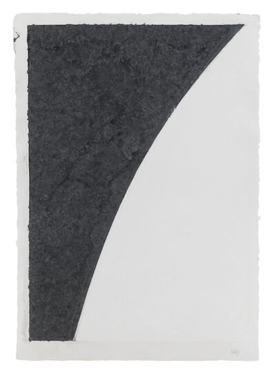 Ellsworth Kelly, 'Colored Paper Image I (White Curve with Black I)', 1976
