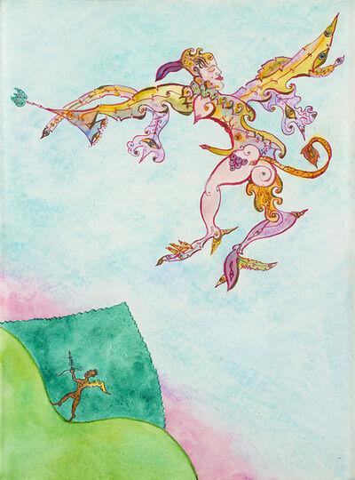 Luigi Ontani, 'Giano Giove Pan volante et Cupido Negro dal Vigese passante', 2002