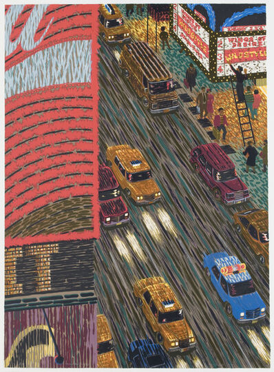 Yvonne Jacquette, 'Motion Picture (Times Square) ', 1989-1990