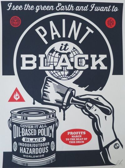 Shepard Fairey, 'Paint it black', 2014