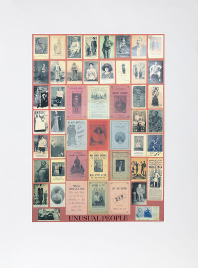 Peter Blake, 'U is for Unusual People', 1991