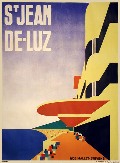 Robert Mallet-Stevens, 'St. Jean De-Luz - Travel Poster', 1928