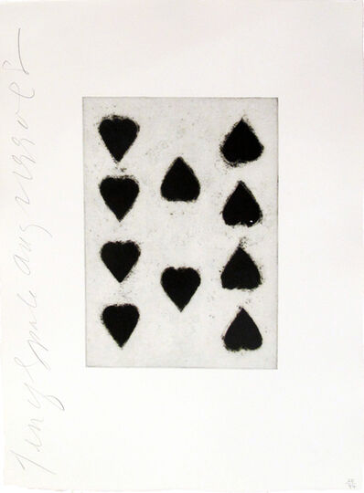 Donald Sultan, 'Playing Cards (Ten of Spades)', 1990