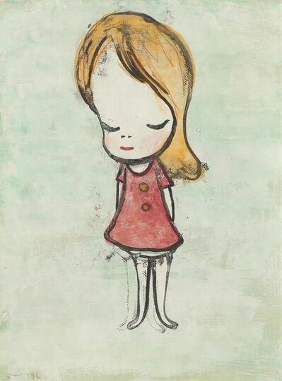 Yoshitomo Nara, 'Untitled (Girl in Red Dress)', 1996