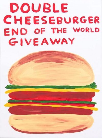 David Shrigley, 'Double Cheeseburger End of the World Giveaway', 2020