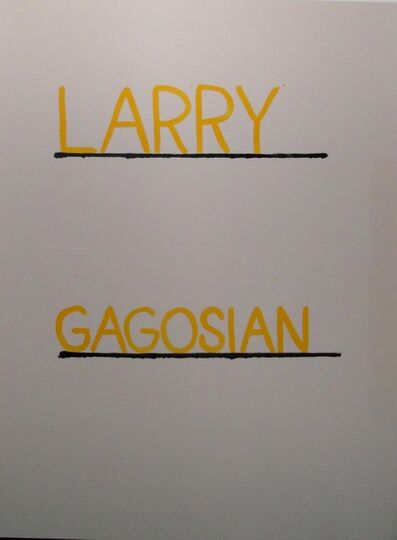 AGGTELEK, 'Larry Gagosian', 2015