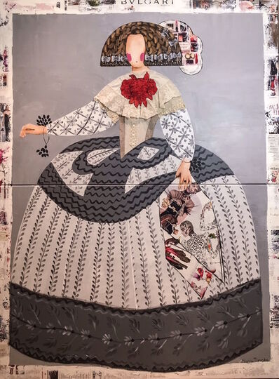 Maria Torroba, 'Mariana grey on grey with Manila embroidery', 2017