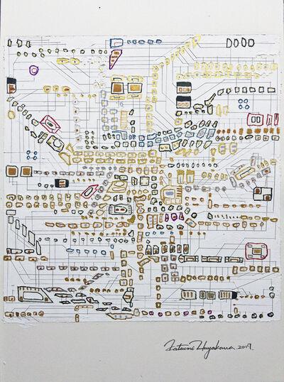 Katsumi Hayakawa, 'Daily Drawing No. 46 circuit', 2017