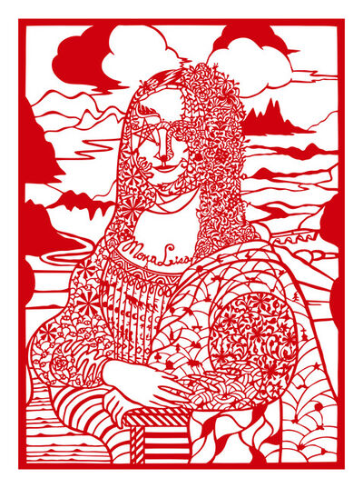 Jam WU, 'Reading Mona Lisa with Diamonds', 2013