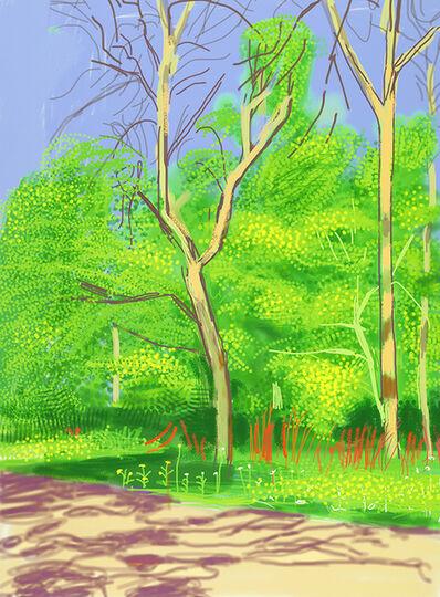 David Hockney, 'The Arrival of Spring in Woldgate, East Yorkshire in 2011 (twenty eleven) - 27 April 2011', 2011