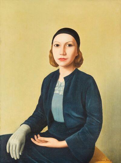 Antonio Donghi, 'Abito azzurro', 1933