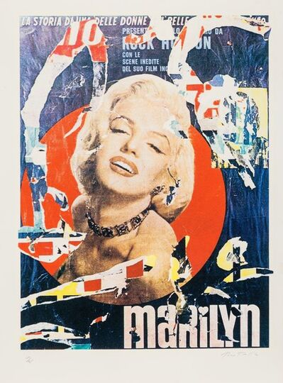 Mimmo Rotella, 'Marilyn 3', 1979