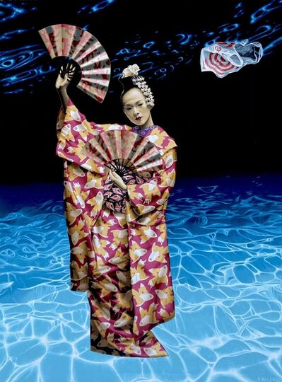 "Stephen Hall, 'Acrylic on Canvas painting of Geisha ""Beauty & The Empty Ocean""', 2020"