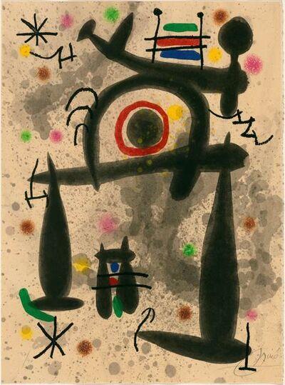 Joan Miró, 'Le Miroir de l'Homme par les Bêtes', 1972