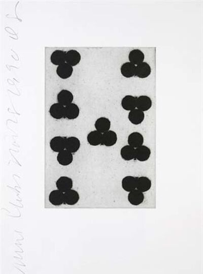 Donald Sultan, 'Playing Cards (Nine of Clubs)', 1990