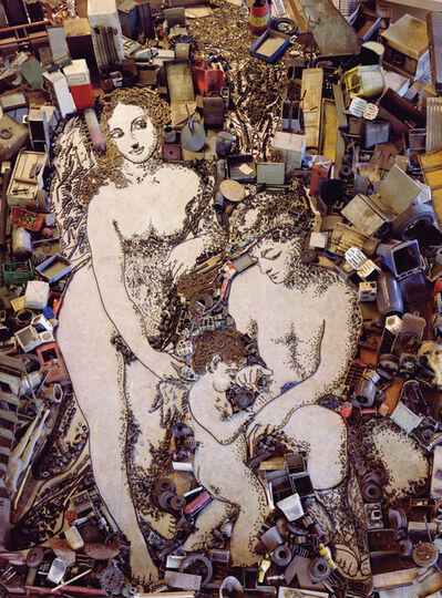 Vik Muniz, 'The Education of Cupid, after Correggio', 2004