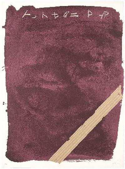 Antoni Tàpies, 'Llambrec-13', 1975