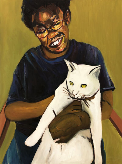 Beverly McIver, 'Renee Holding Her Cat', c. 2014