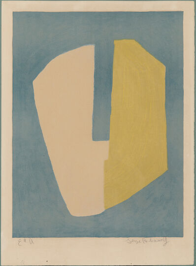 Serge Poliakoff, 'Composition jaune et bleue', 1968